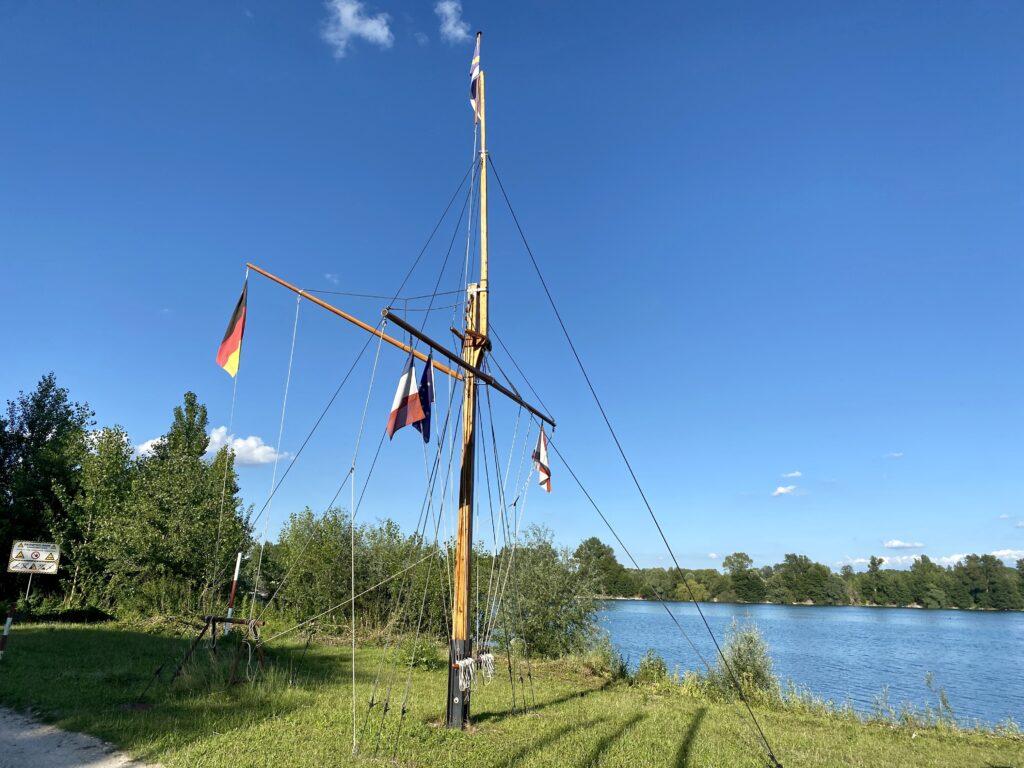 Flaggenmast der SKP